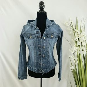YMI Hoodie Denim Jacket Size Junior L